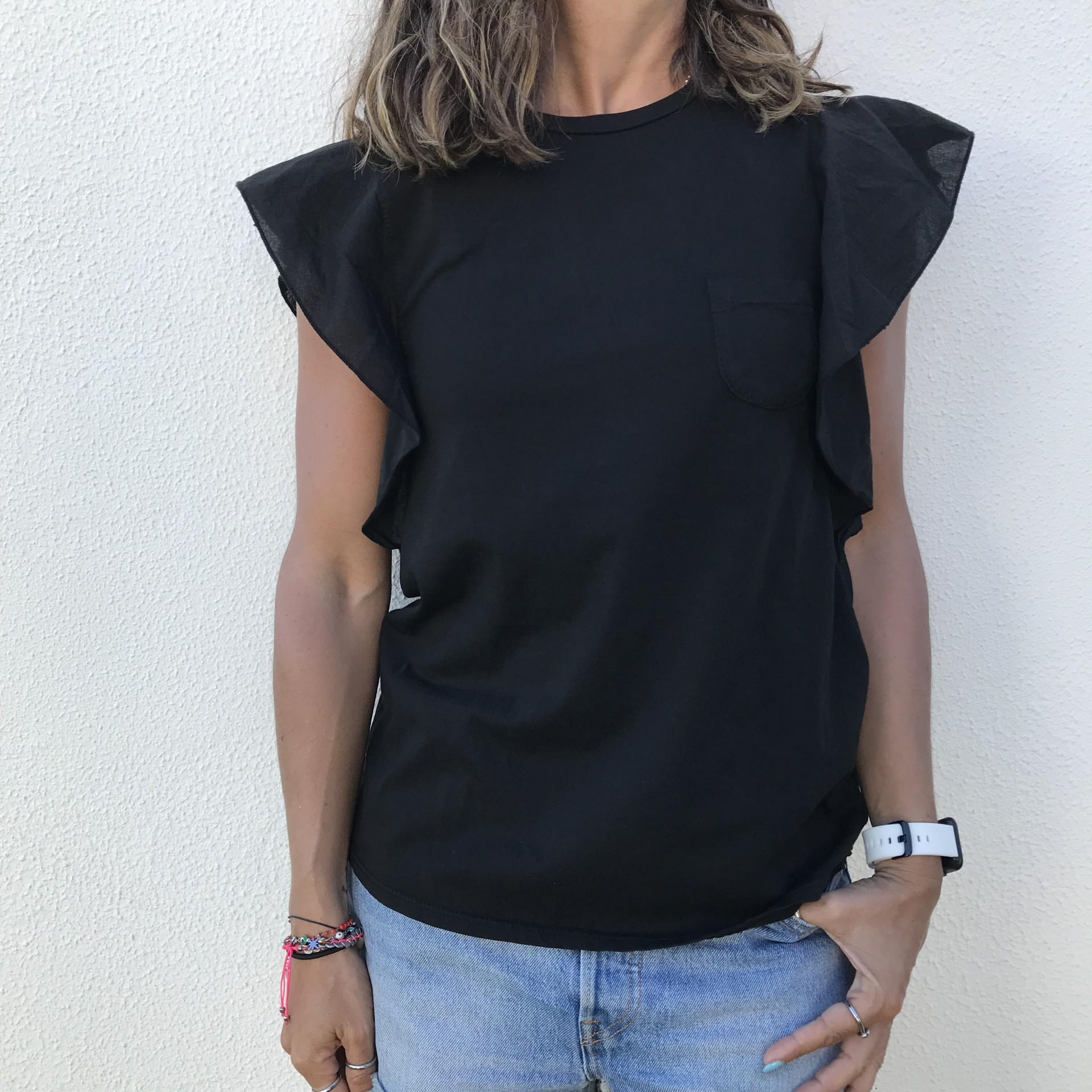 T-shirt Lisa Bolso | Preto