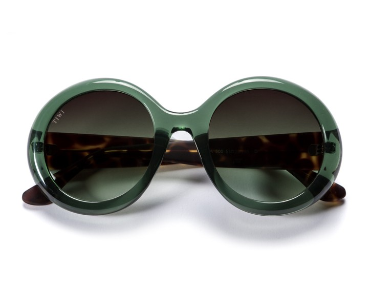 LISSA | SHINY GREEN WITH GREEN GRADIENT LENSES