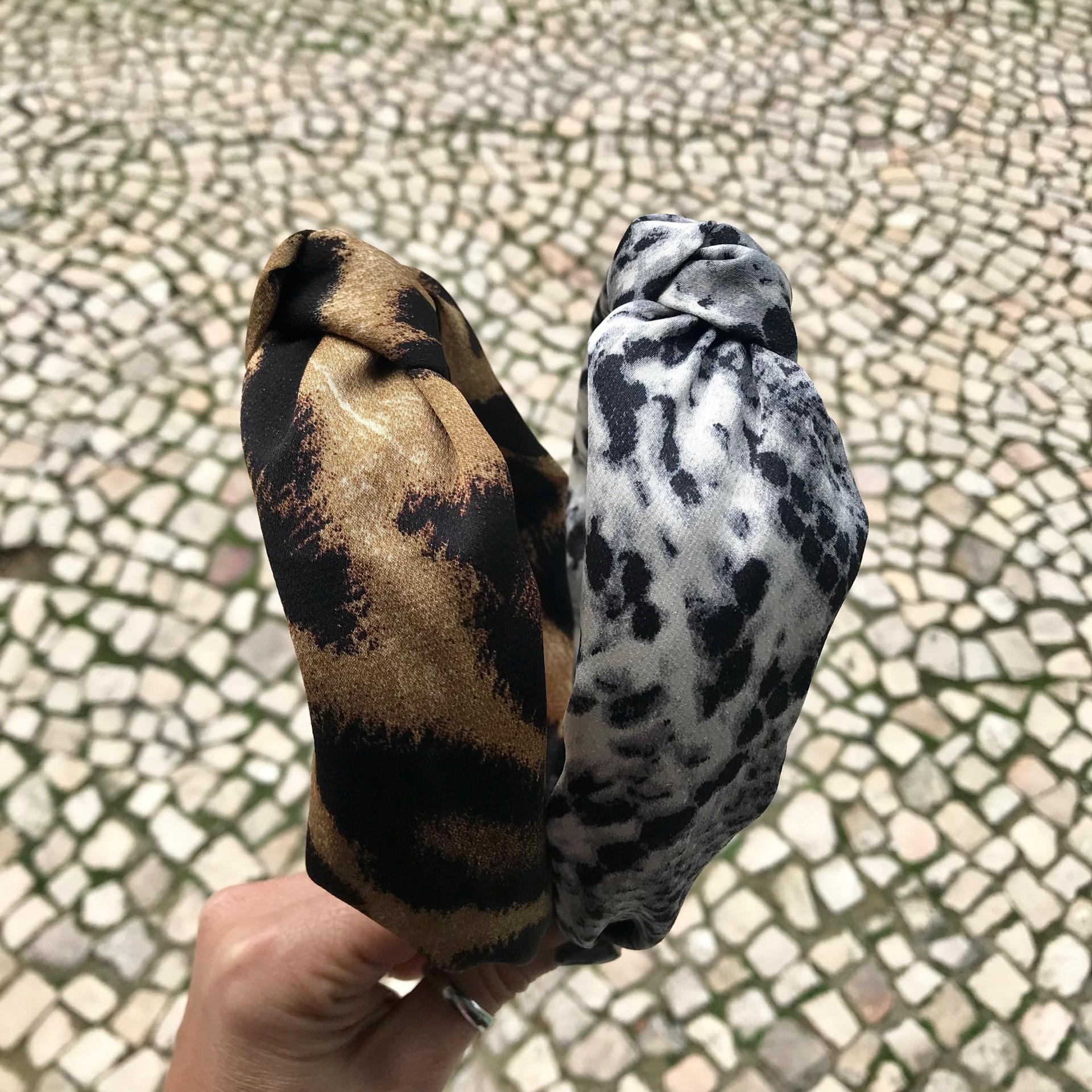 Bandolete Padrão Castanho & Cinza