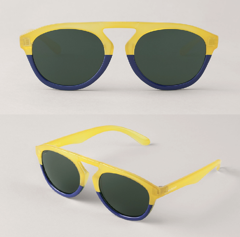 Honey/Dark Blue Wynwood with Classical Lenses