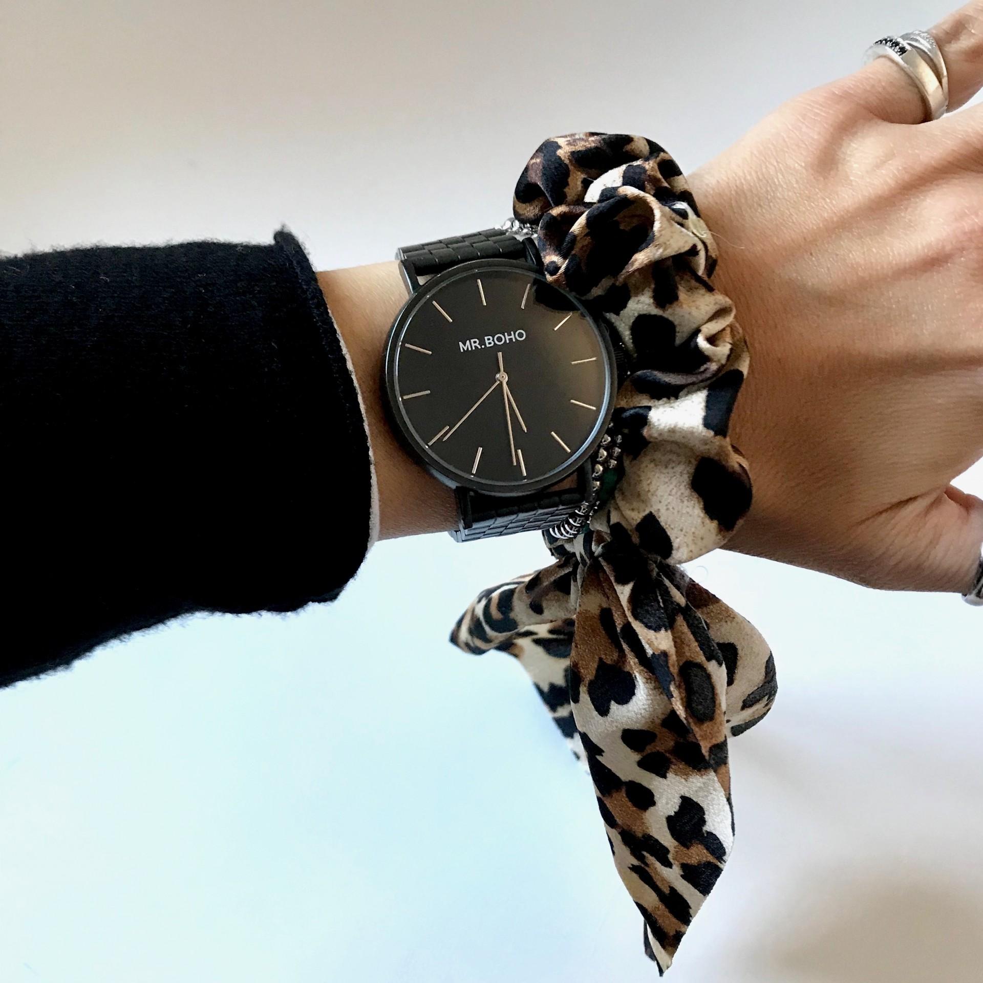 Elástico Cabelo Padrão   Leopardo