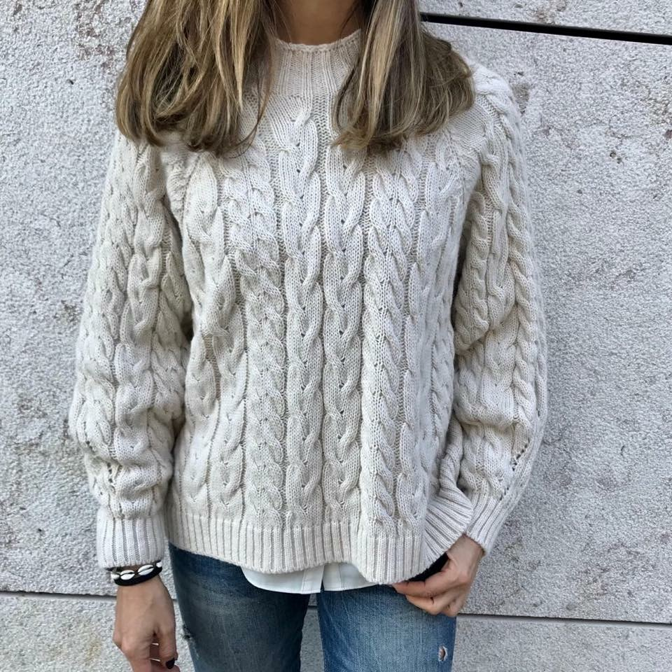 Camisola tranças | Creme