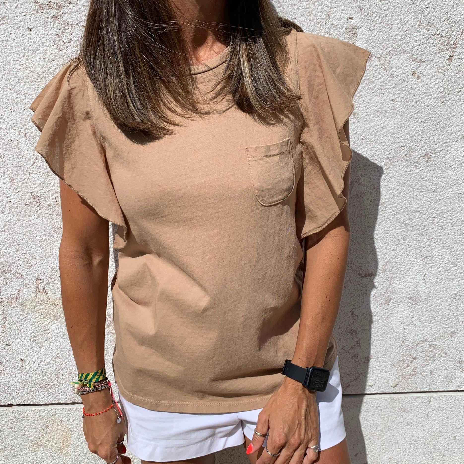 T-shirt Lisa Bolso | Creme