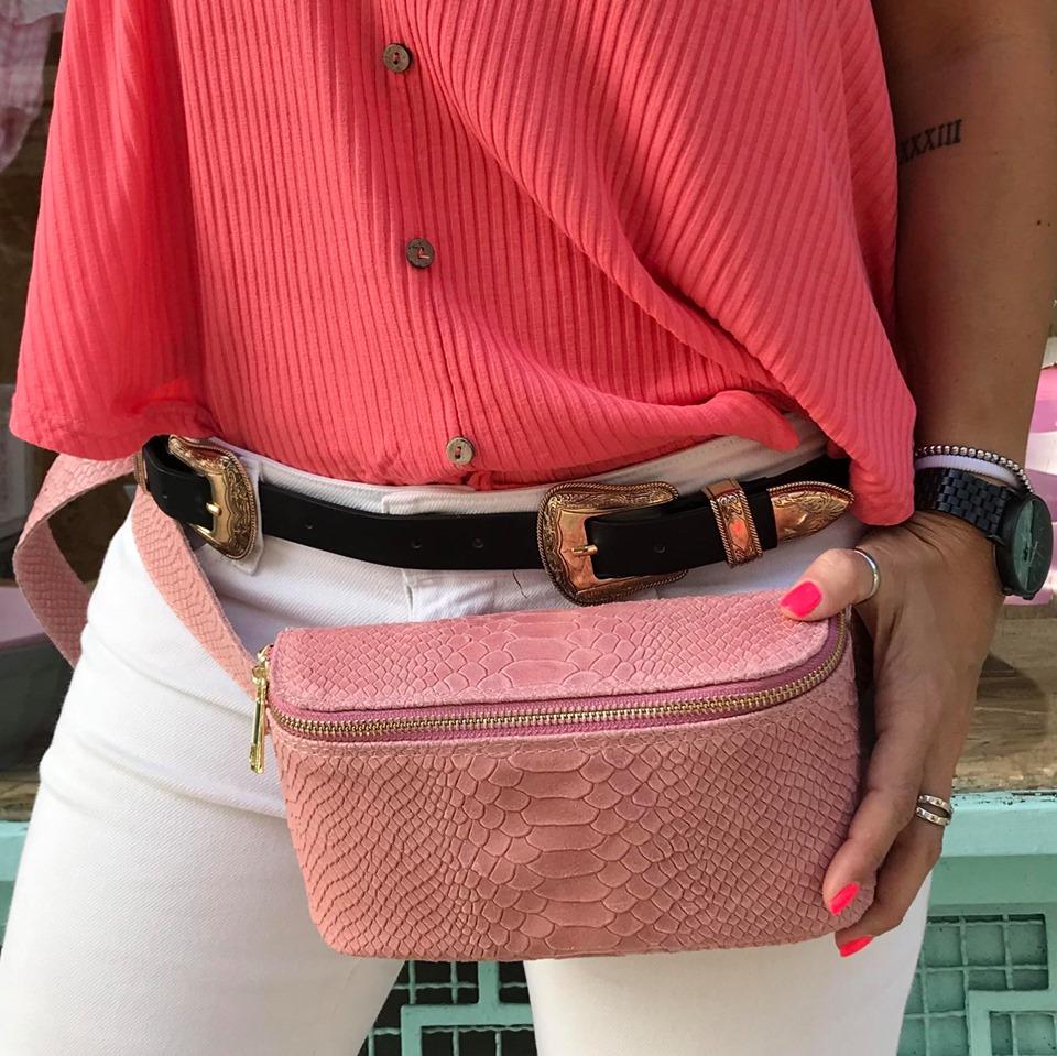 Bolsa Cintura Croc | Rosa