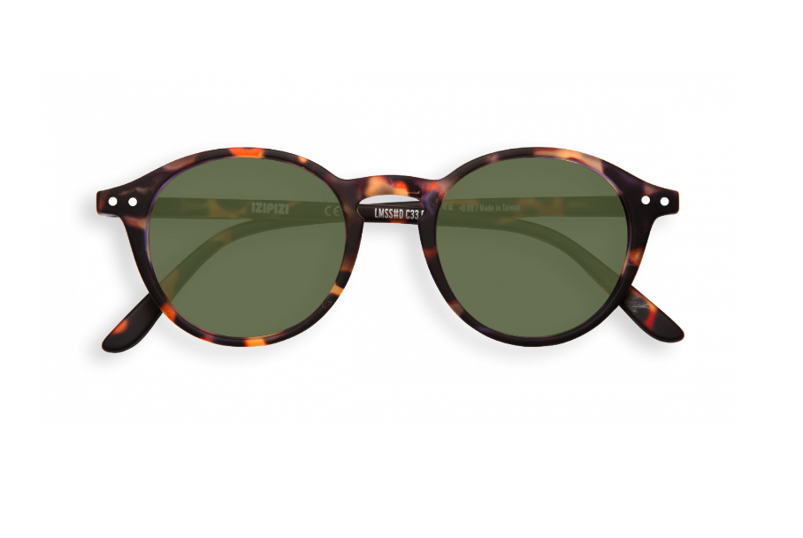 #D SUN Tortoise Green Lenses