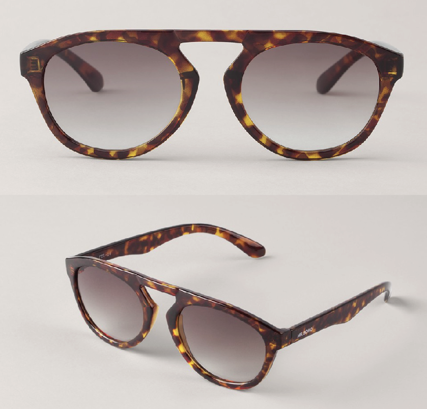 Cheetah Tortoise Wynwood with Gradient Brown Lenses