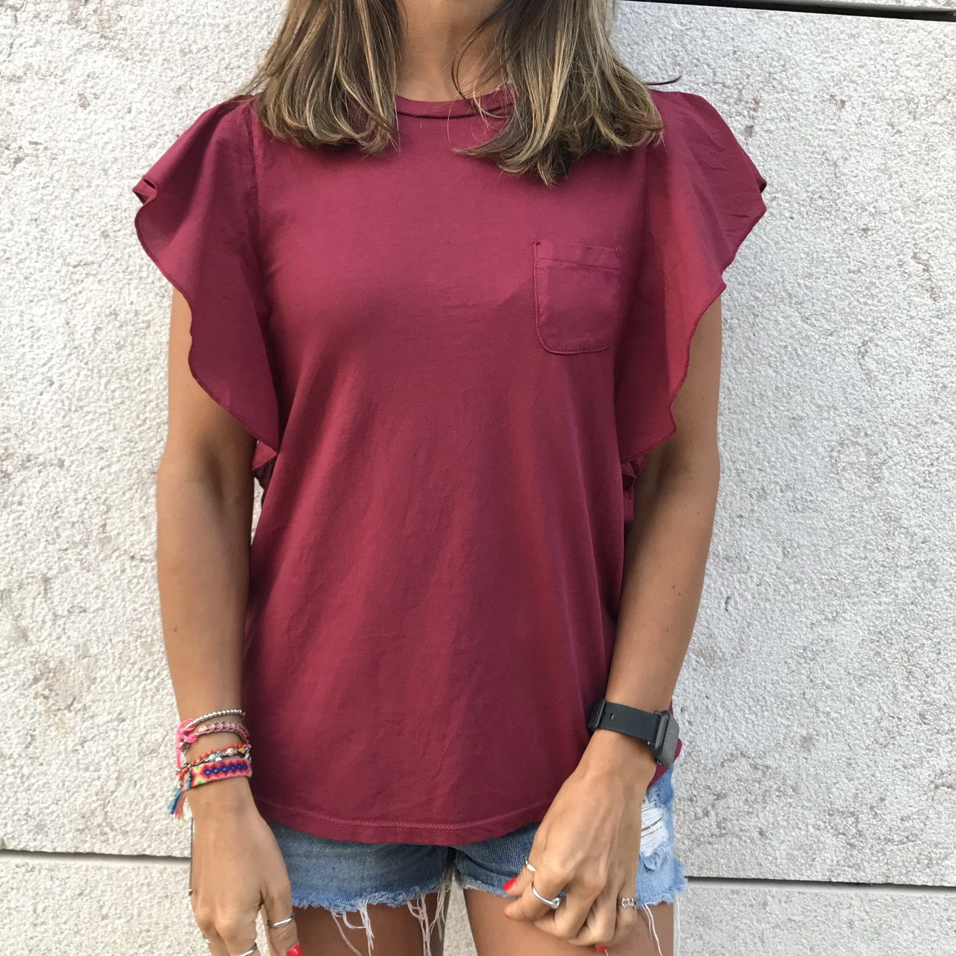 T-shirt Lisa Bolso | Bordeaux