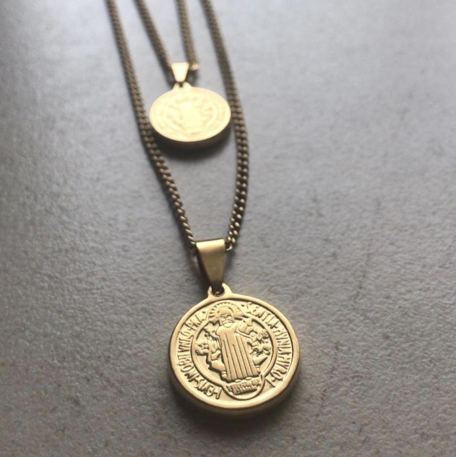 Fio duplo medalhas Aço