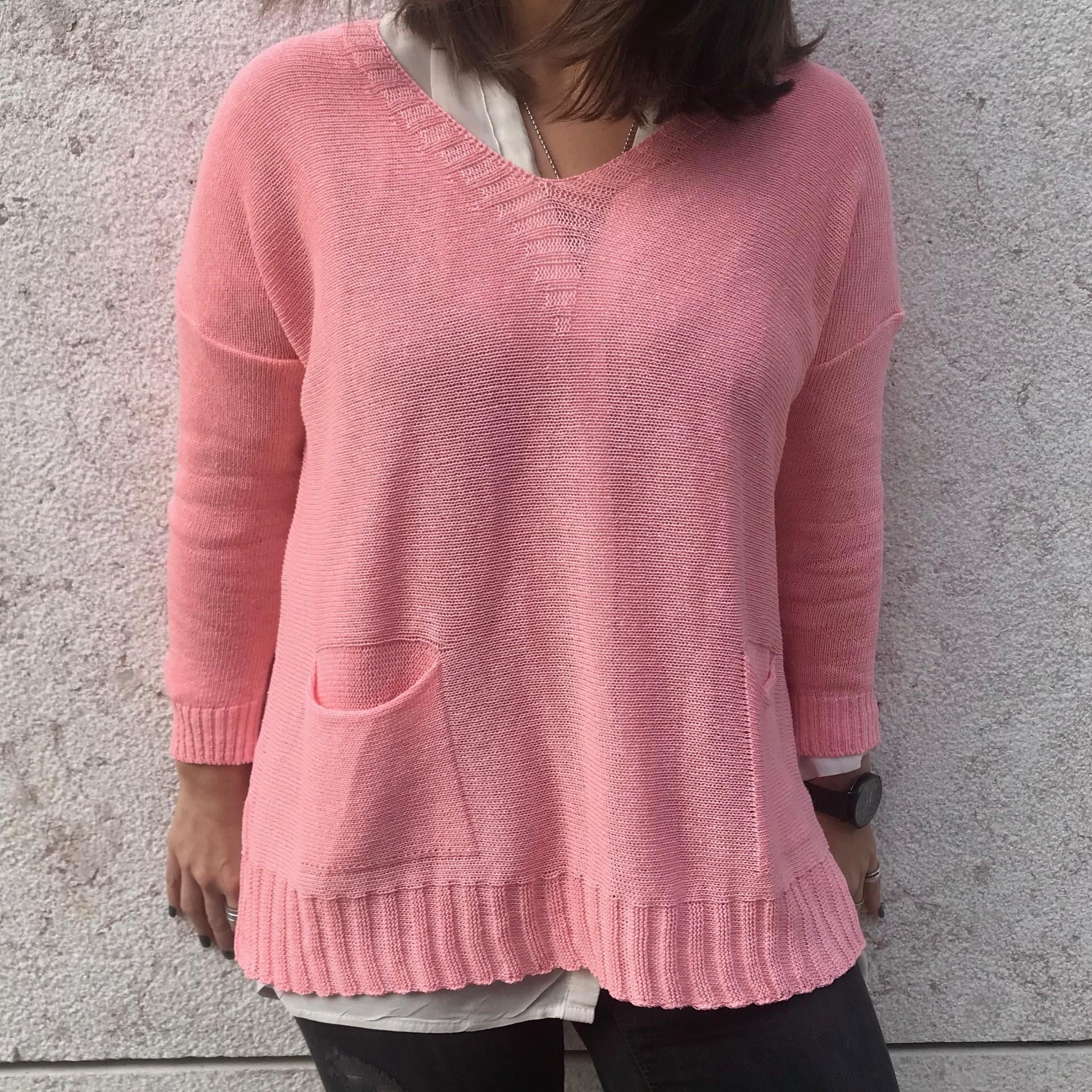 Camisola Bolsos | Rosa
