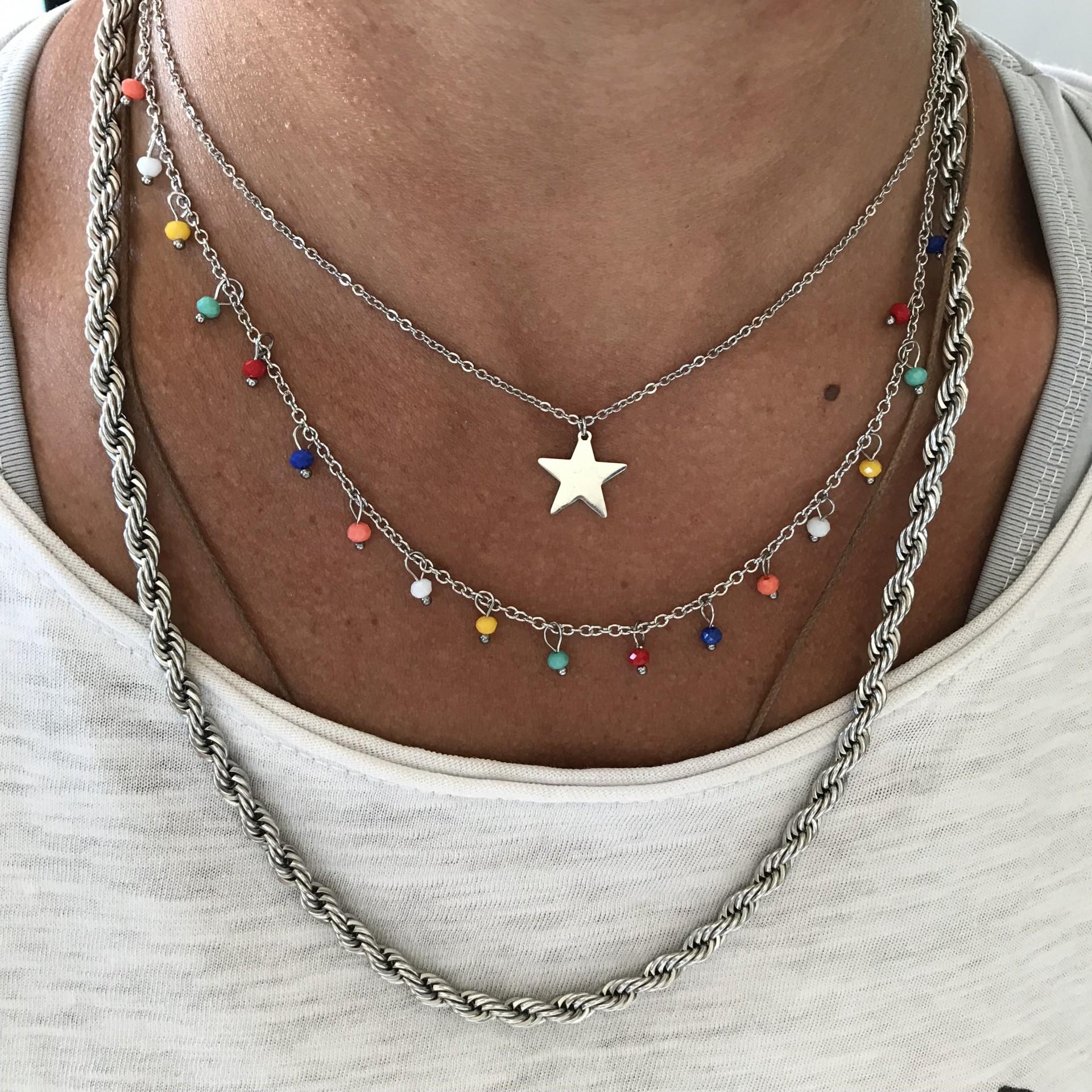 Fio Duplo Bolinhas Coloridas | Estrela
