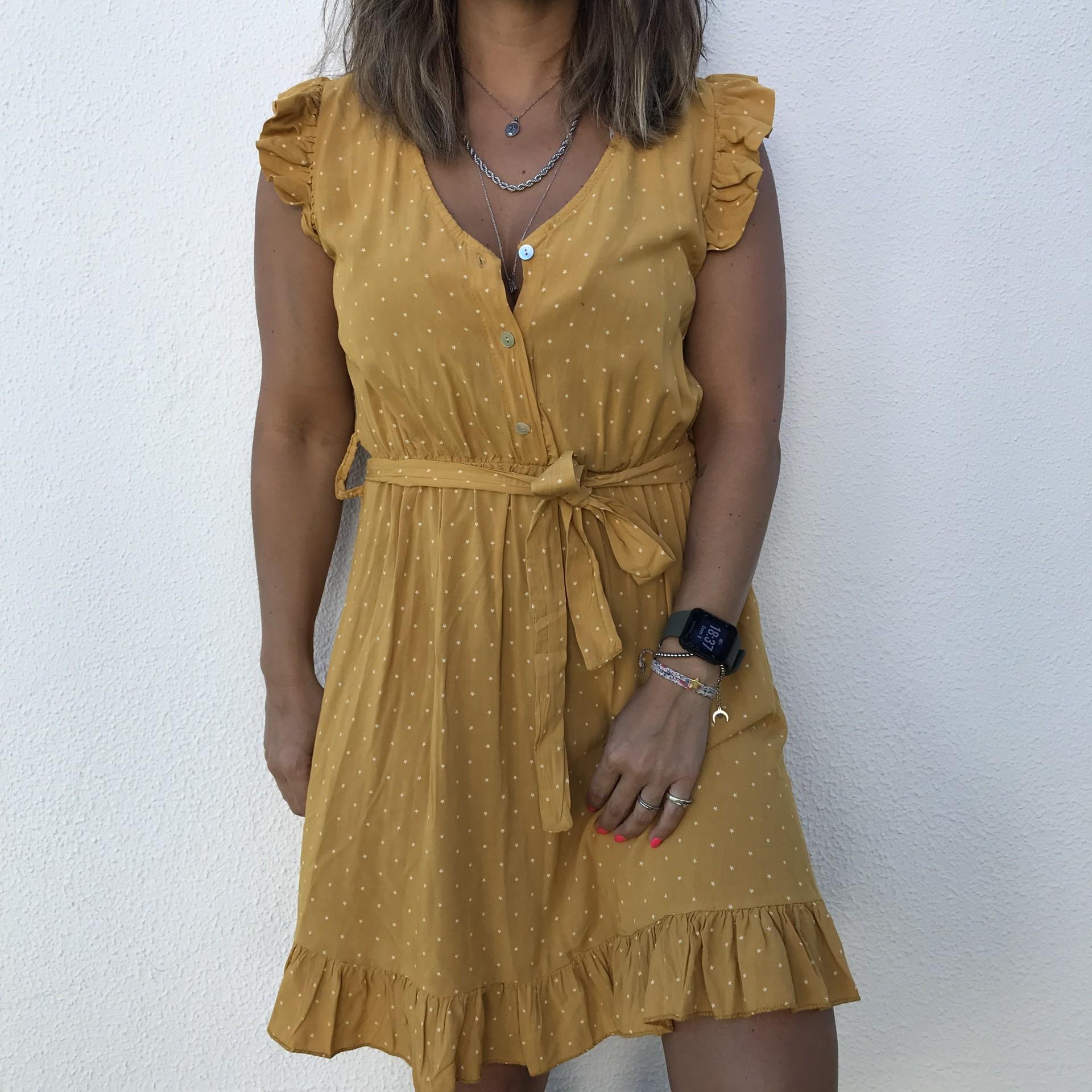 Vestido Estrelinhas | Mostarda