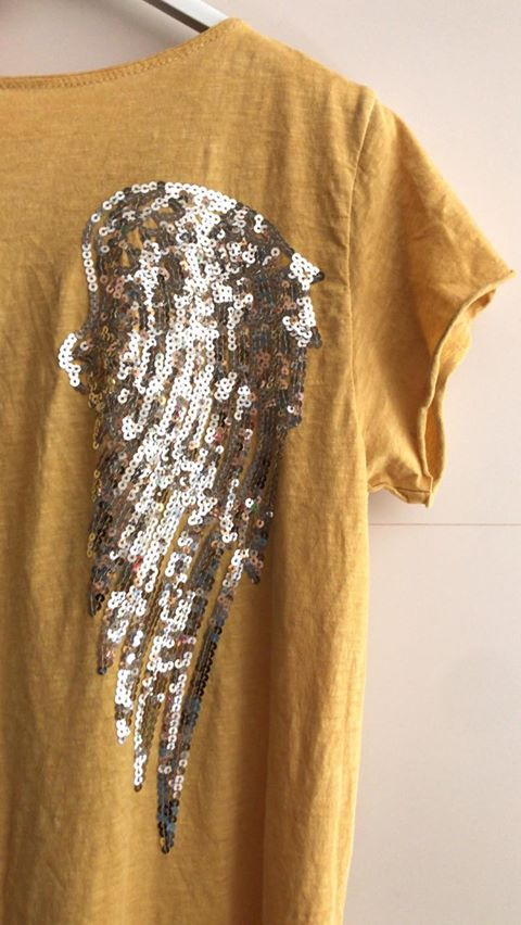 Vestido Comprido Asas   Mostarda