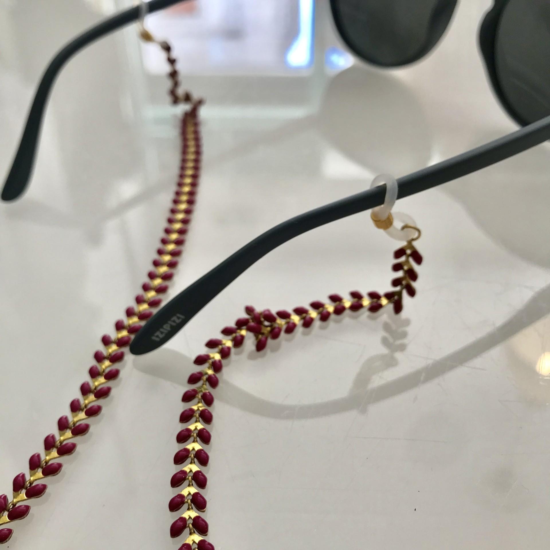 Fita de óculos Aço | Rosa Escuro
