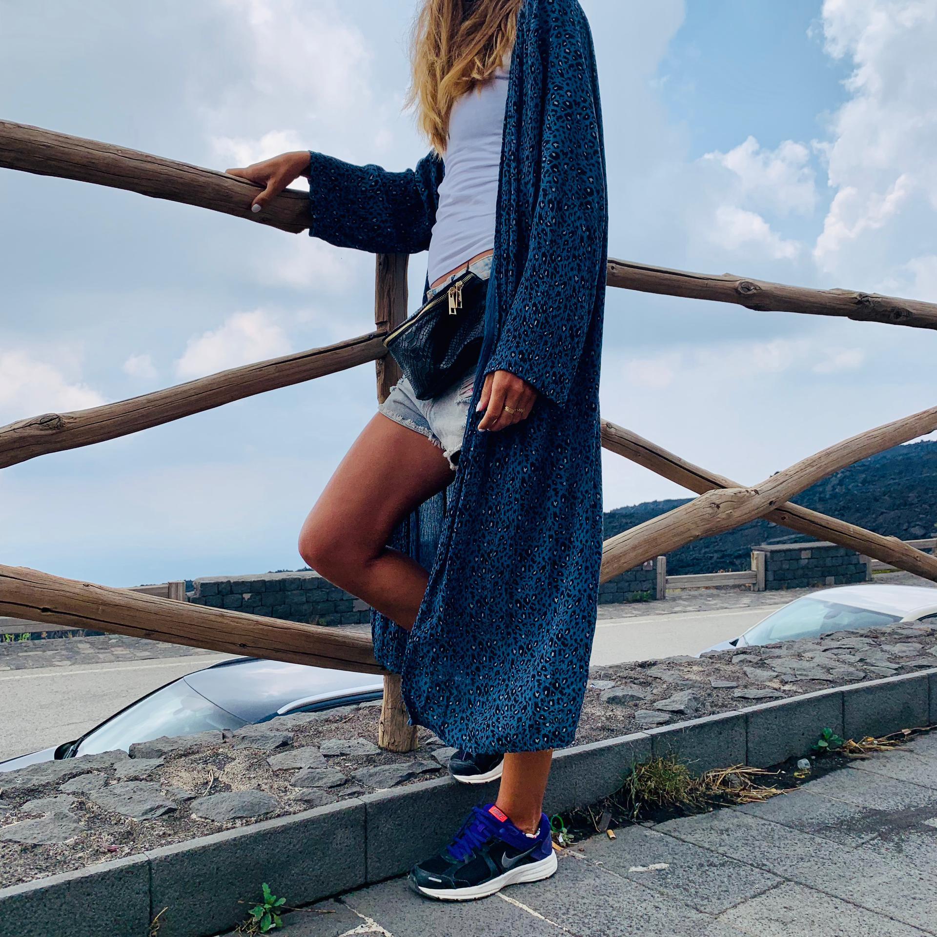 Kimono Padrão Animal | Azul