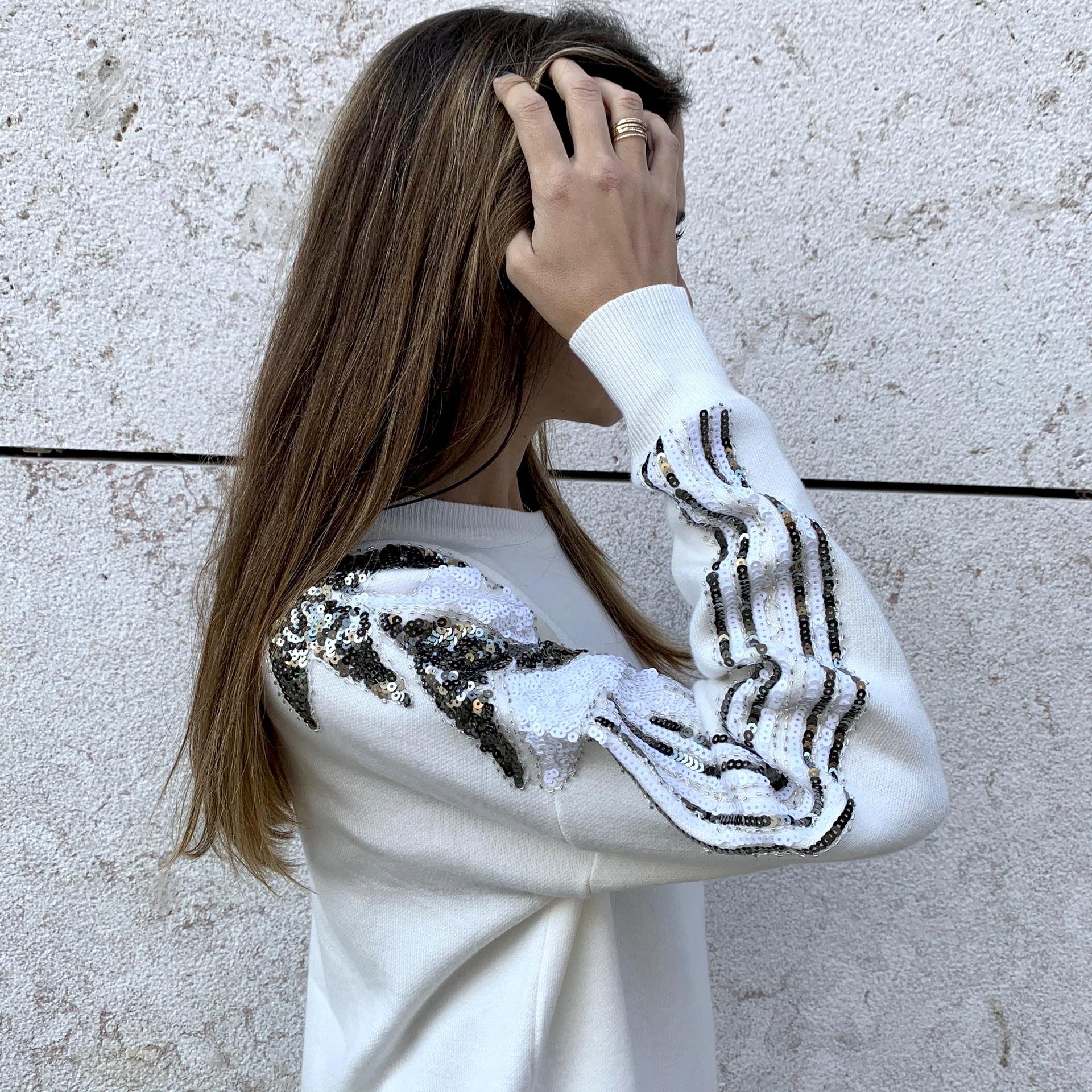 Camisola/Vestido Oversize com Lantejoulas