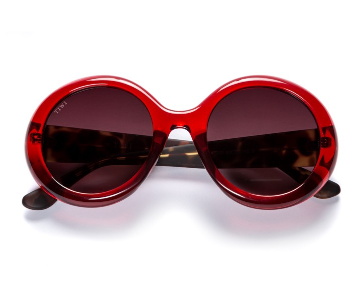 LISSA | SHINY RED WITH BURGUNDY GRADIENT LENSES
