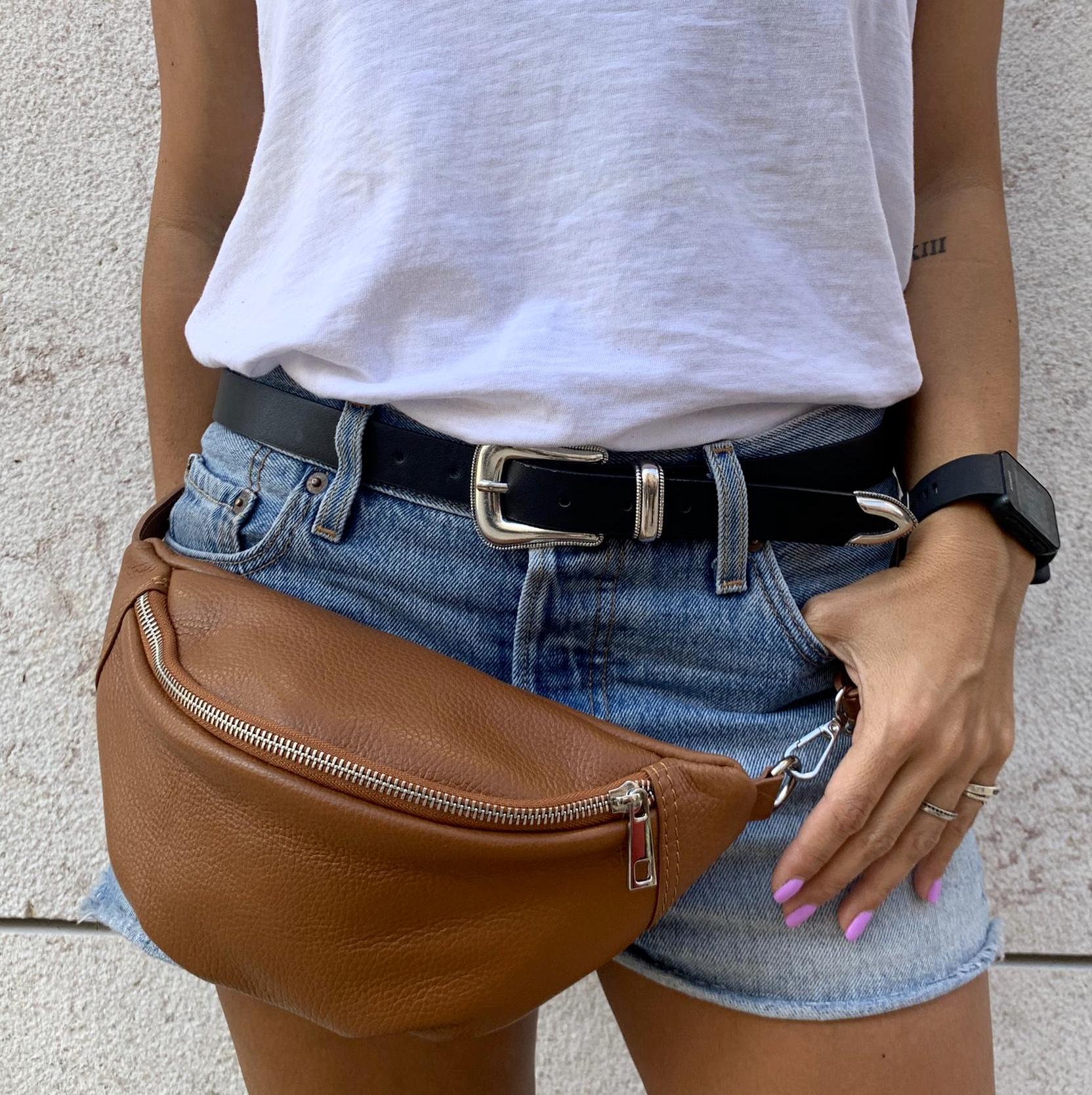 Bolsa de Cintura em Pele | Camel