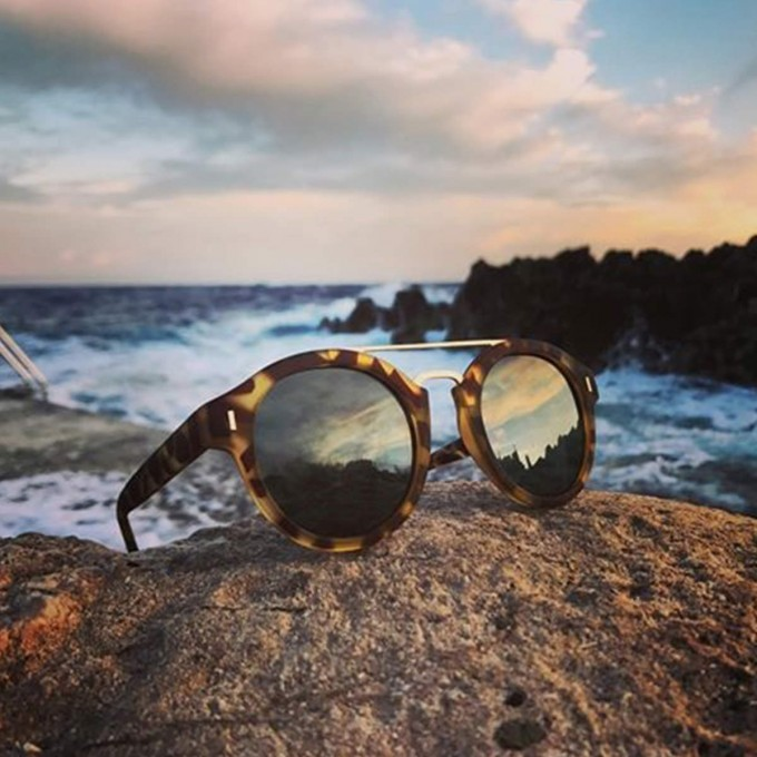 HALLEY | RUBBER HAVANA WITH CLASSIC GREEN LENSES   (FLAT +AR BACKSIDE)