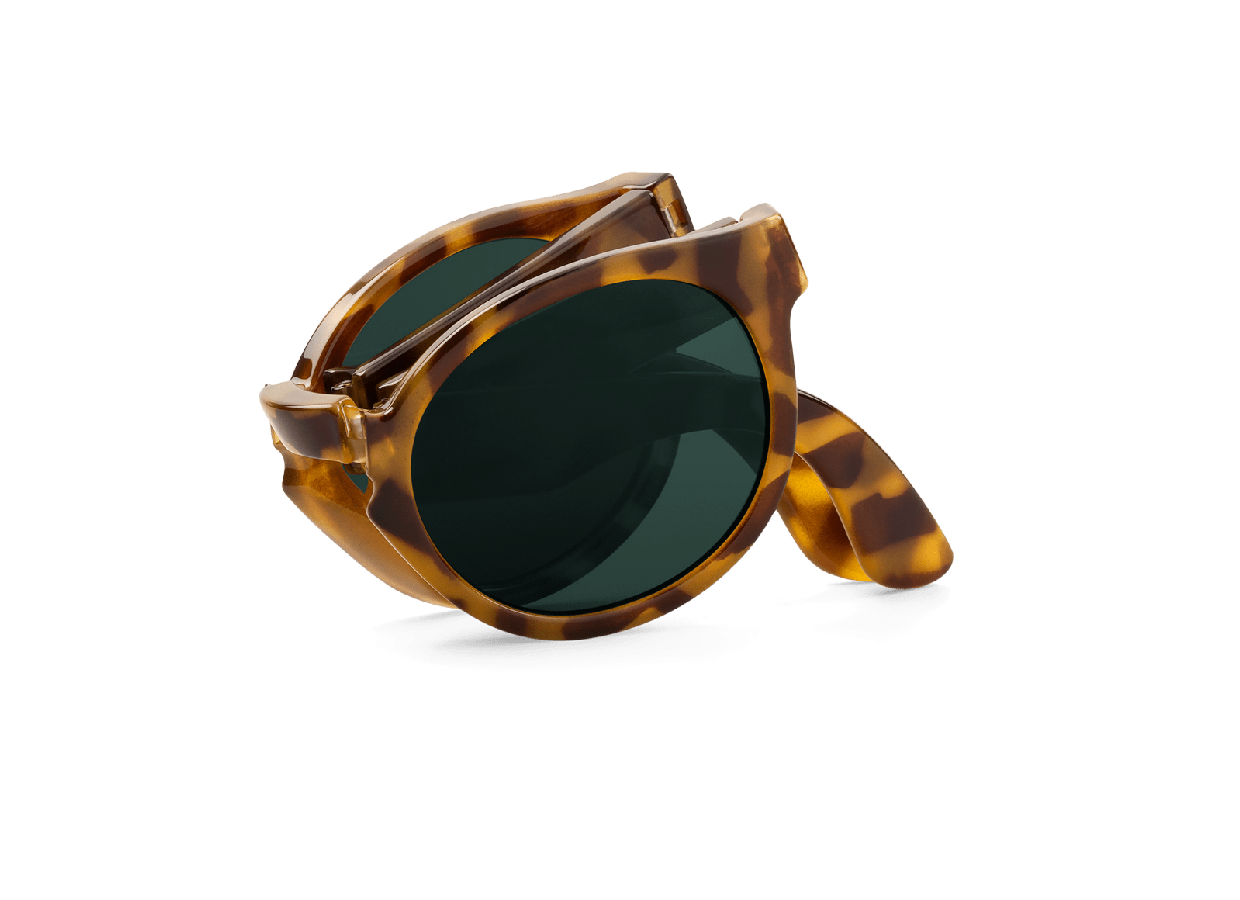 HIGH CONTRAST TORTOISE FOLDABLE JORDAAN W/ CLASSICAL LENSES