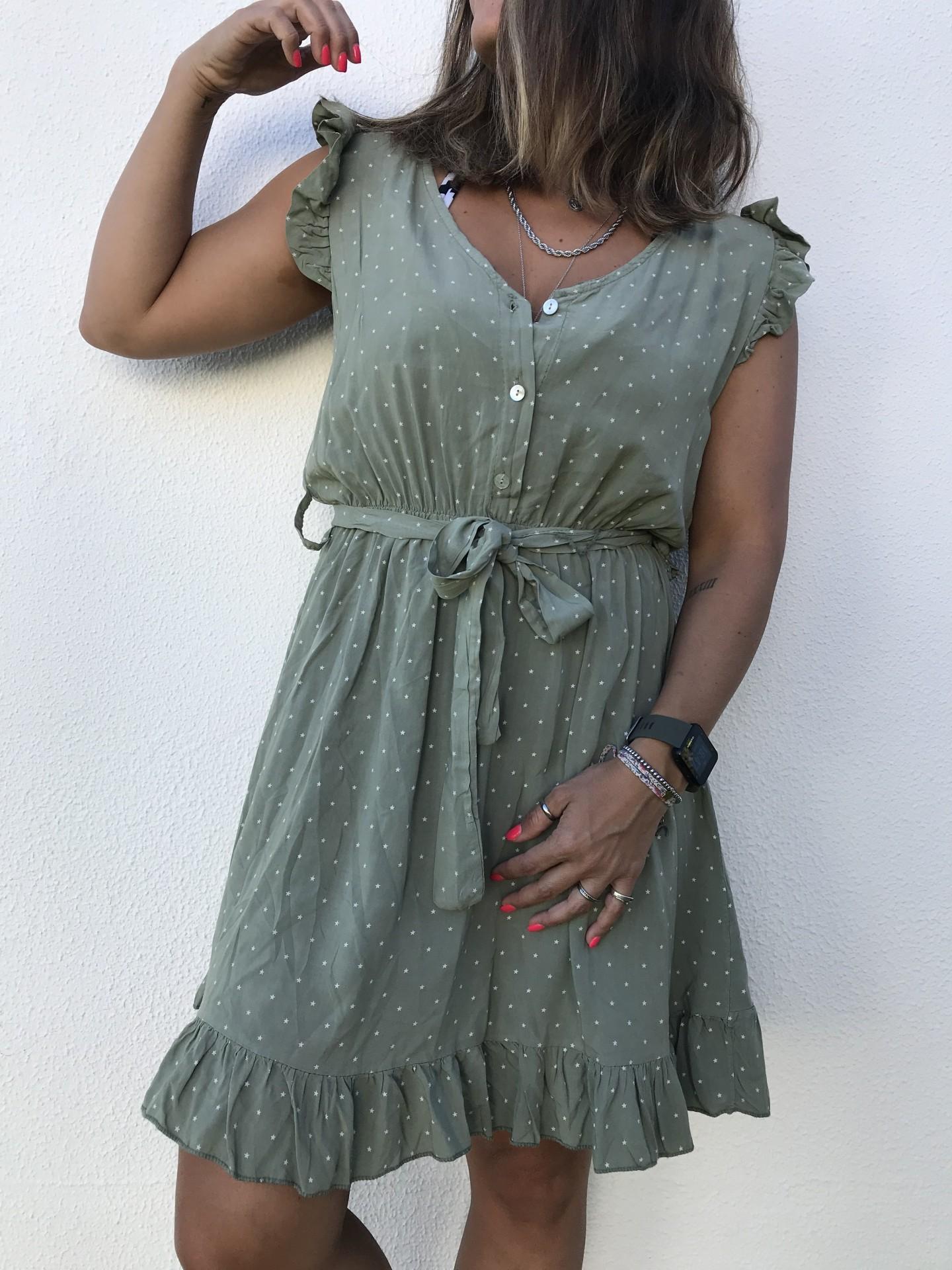 Vestido Estrelinhas | Kaki