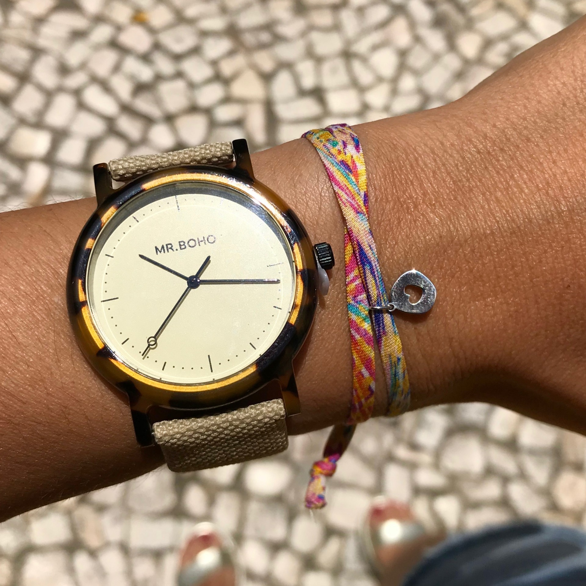 PULSEIRA COLOURS HEART PRATEADO YELLOW