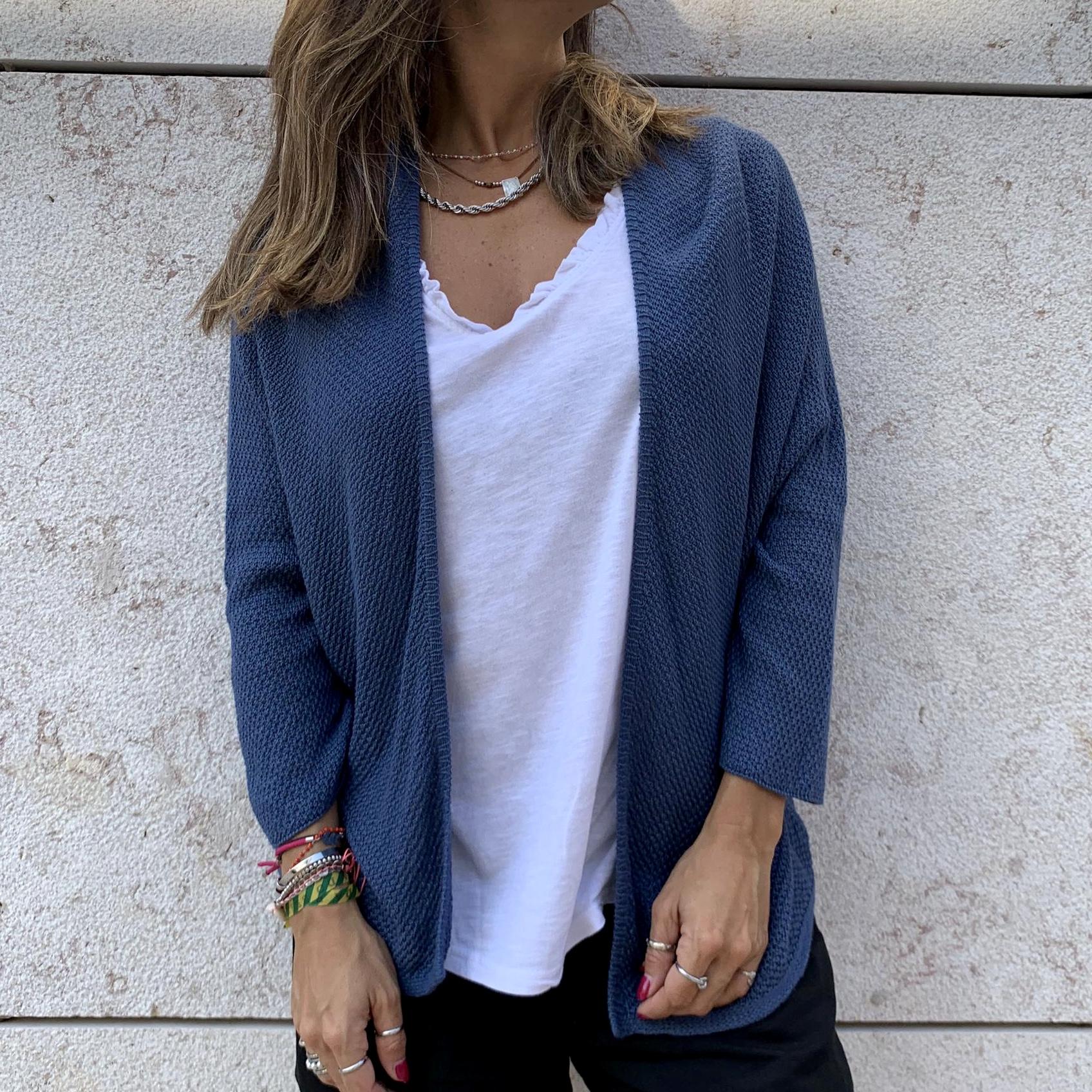 Casaco Malha | Azul Marinho