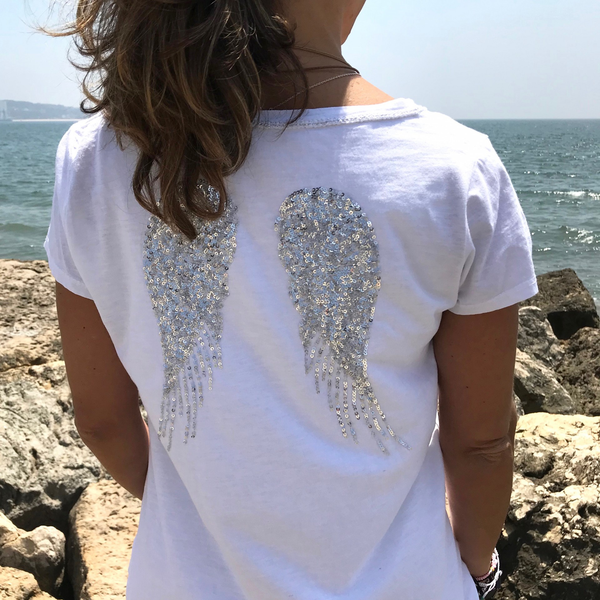 T-shirt Asas Branca