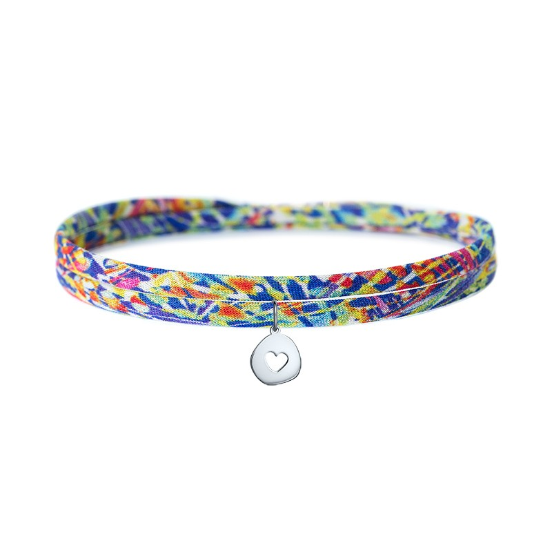 PULSEIRA COLOURS HEART PRATEADO DARK BLUE