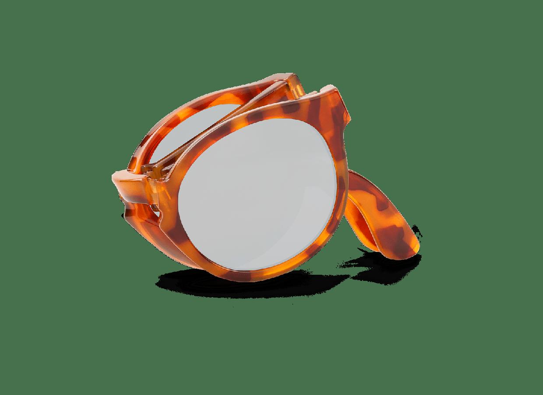 LEO TORTOISE FOLDABLE JORDAAN W/ SILVER LENSES