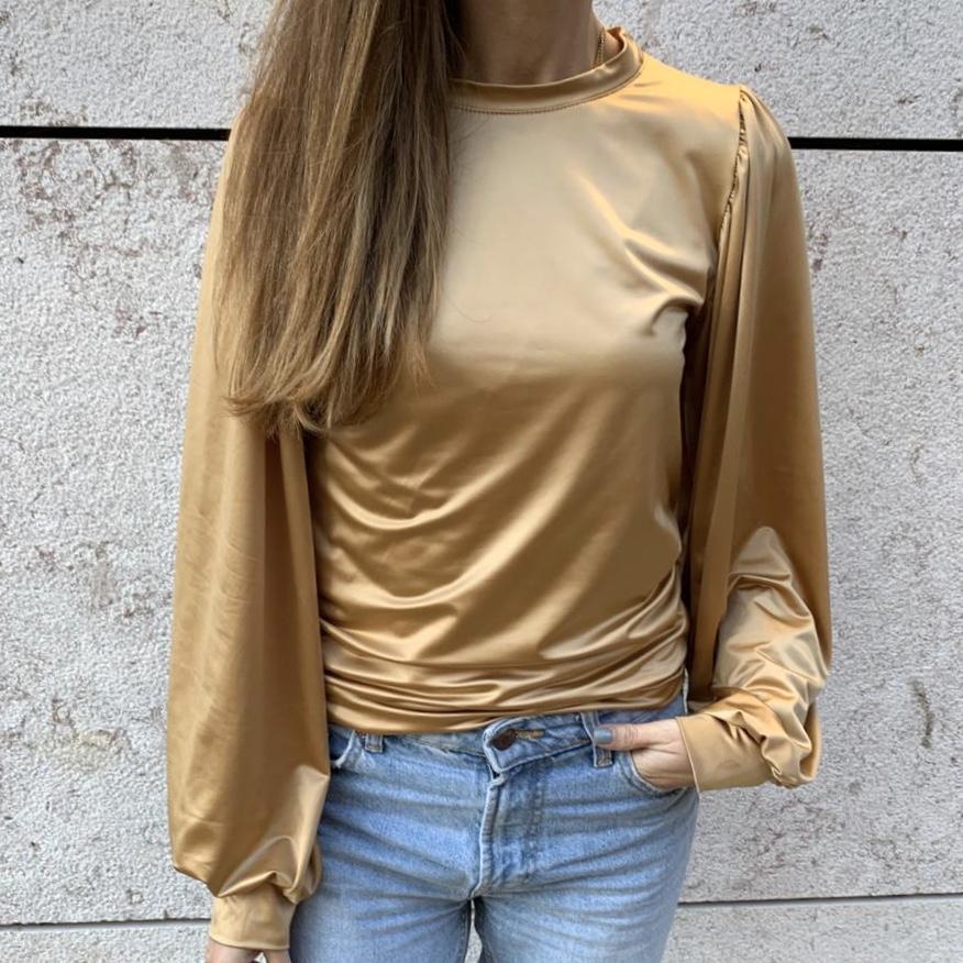 Blusa Cetim |  Dourada