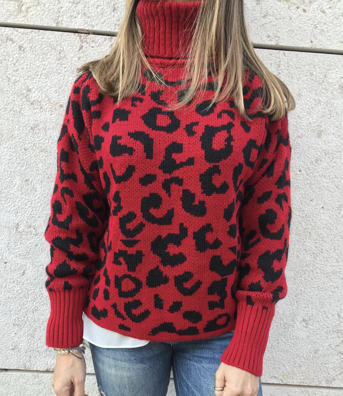 Camisola Padrão | Vermelho