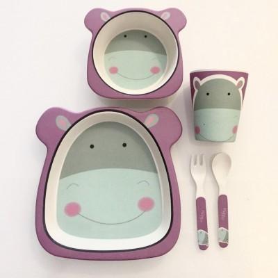 Conjunto Bamboo (5 peças)   Hipopótamo