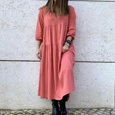 Vestido Comprido   Salmão