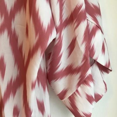 Kimono Étnico   Rosa Velho