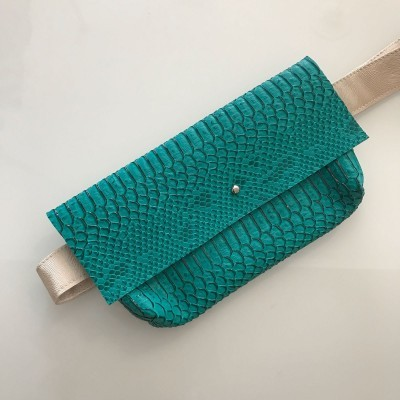 Bolsa Cintura   Azul Croc