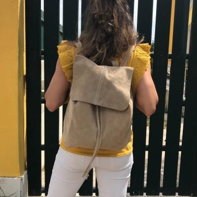 Mochila Camurça | Creme