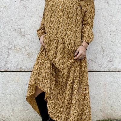 Vestido Pomelo Botões | Bourdeaux