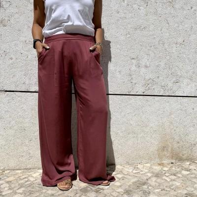 Calças Largas | Rosa
