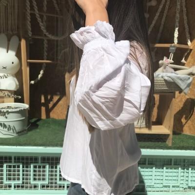 Camisa com punhos elásticos | Branco
