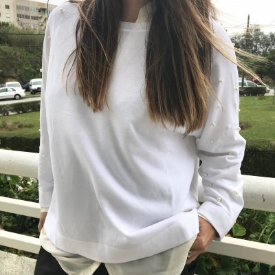 Camisola Spring Pérolas | Branca