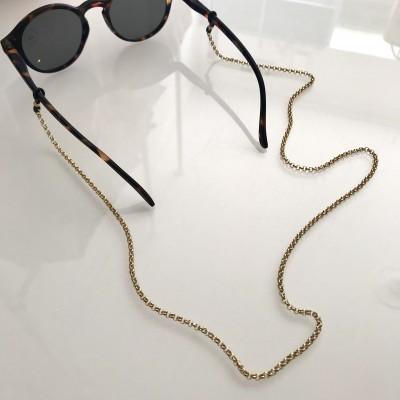 Corrente Óculos Aço Dourada