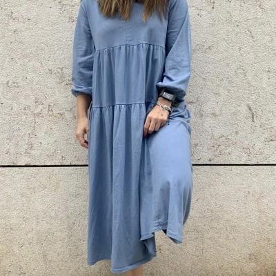 Vestido Comprido   Azul Ganga