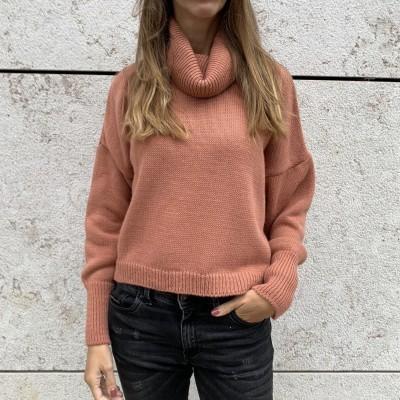 Camisola de gola Alta | Camel