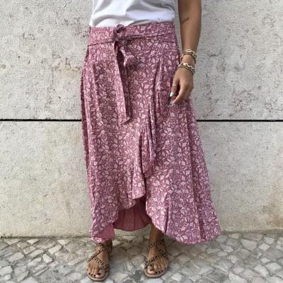 Saia Padrão Floral XL | Preto