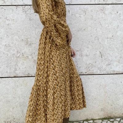 Vestido Pomelo Cruzado | Mostarda