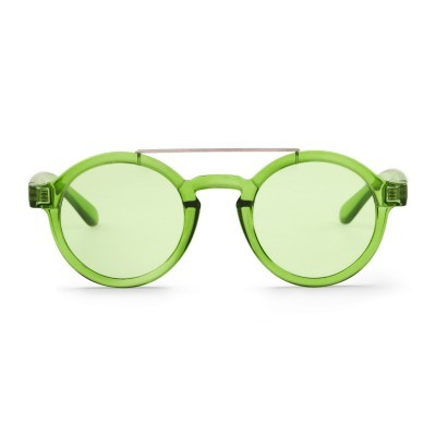 Lime Metal Dalston with transparent green lenses