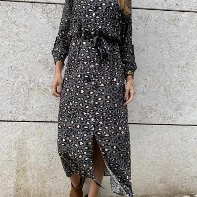 Vestido Leopardo Colorido | Fundo Cinza