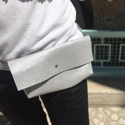 Bolsa Cintura | Prateada Croc