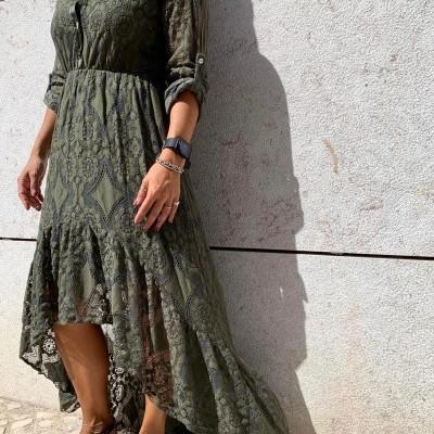 Vestido Renda | Kaki