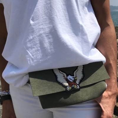 Bolsa Cintura Kaki | Águia